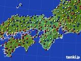 近畿地方のアメダス実況(日照時間)(2020年08月02日)