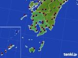 鹿児島県のアメダス実況(日照時間)(2020年08月02日)