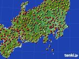 関東・甲信地方のアメダス実況(気温)(2020年08月02日)