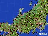 北陸地方のアメダス実況(気温)(2020年08月02日)