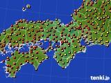 近畿地方のアメダス実況(気温)(2020年08月02日)