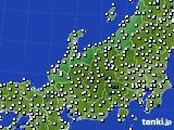 北陸地方のアメダス実況(風向・風速)(2020年08月02日)