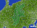 長野県のアメダス実況(風向・風速)(2020年08月02日)