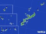 沖縄県のアメダス実況(風向・風速)(2020年08月02日)