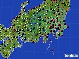 2020年08月03日の関東・甲信地方のアメダス(日照時間)