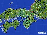 近畿地方のアメダス実況(日照時間)(2020年08月03日)