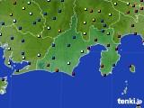 静岡県のアメダス実況(日照時間)(2020年08月03日)