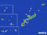 沖縄県のアメダス実況(日照時間)(2020年08月03日)