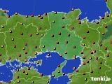 兵庫県のアメダス実況(気温)(2020年08月03日)