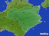徳島県のアメダス実況(気温)(2020年08月03日)