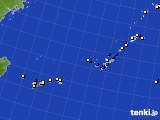 沖縄地方のアメダス実況(風向・風速)(2020年08月03日)