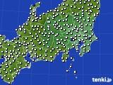 関東・甲信地方のアメダス実況(風向・風速)(2020年08月03日)