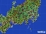 2020年08月04日の関東・甲信地方のアメダス(日照時間)