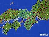 近畿地方のアメダス実況(日照時間)(2020年08月04日)