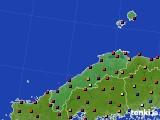 島根県のアメダス実況(日照時間)(2020年08月04日)