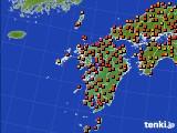 九州地方のアメダス実況(気温)(2020年08月04日)