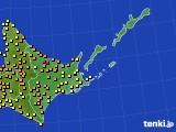 道東のアメダス実況(気温)(2020年08月04日)