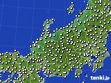 北陸地方のアメダス実況(風向・風速)(2020年08月04日)