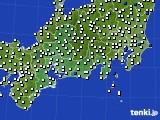 2020年08月04日の東海地方のアメダス(風向・風速)