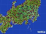 2020年08月05日の関東・甲信地方のアメダス(日照時間)