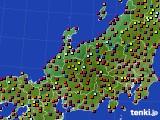 北陸地方のアメダス実況(日照時間)(2020年08月05日)