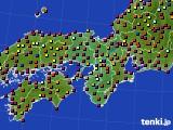 近畿地方のアメダス実況(日照時間)(2020年08月05日)