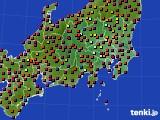 2020年08月06日の関東・甲信地方のアメダス(日照時間)