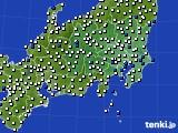 関東・甲信地方のアメダス実況(風向・風速)(2020年08月06日)