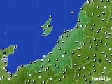 新潟県のアメダス実況(風向・風速)(2020年08月06日)