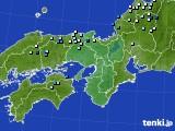 近畿地方のアメダス実況(降水量)(2020年08月07日)