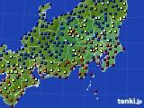 2020年08月07日の関東・甲信地方のアメダス(日照時間)