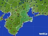 三重県のアメダス実況(日照時間)(2020年08月07日)
