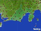 静岡県のアメダス実況(気温)(2020年08月07日)