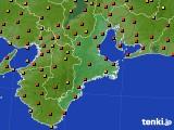 三重県のアメダス実況(気温)(2020年08月07日)