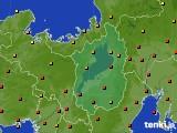 滋賀県のアメダス実況(気温)(2020年08月07日)