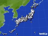 2020年08月07日のアメダス(風向・風速)