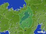 滋賀県のアメダス実況(風向・風速)(2020年08月07日)