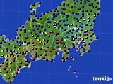 2020年08月08日の関東・甲信地方のアメダス(日照時間)