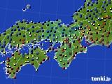近畿地方のアメダス実況(日照時間)(2020年08月08日)