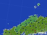 島根県のアメダス実況(日照時間)(2020年08月08日)
