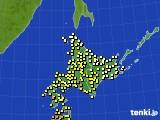 アメダス実況(気温)(2020年08月08日)
