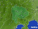 山梨県のアメダス実況(風向・風速)(2020年08月08日)