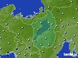 滋賀県のアメダス実況(風向・風速)(2020年08月08日)
