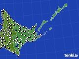 道東のアメダス実況(風向・風速)(2020年08月08日)