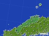 島根県のアメダス実況(風向・風速)(2020年08月08日)