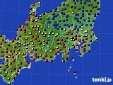 2020年08月09日の関東・甲信地方のアメダス(日照時間)