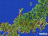 北陸地方のアメダス実況(日照時間)(2020年08月09日)
