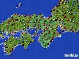 近畿地方のアメダス実況(日照時間)(2020年08月09日)
