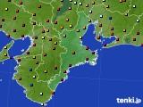 2020年08月09日の三重県のアメダス(日照時間)