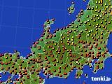 北陸地方のアメダス実況(気温)(2020年08月09日)